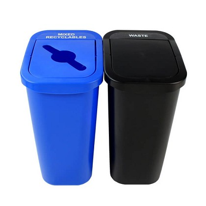 7 Gallon Deskside Sorter Recycling Combo