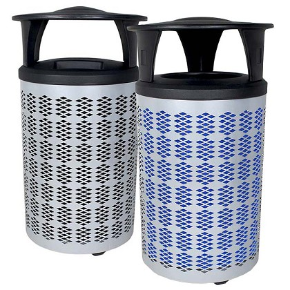 The Berkeley Trash & Recycling Bin Combo with Canopy