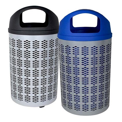 The Berkeley Trash & Recycling Bin Combo with Dome