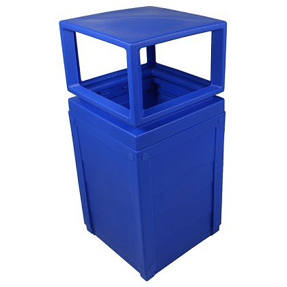 Evolve 50-Gallon Recycling Cube with Canopy in Blue