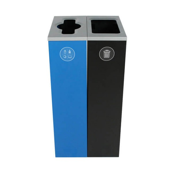 Spectrum Two-Stream Double Slim Cube Recycling Station