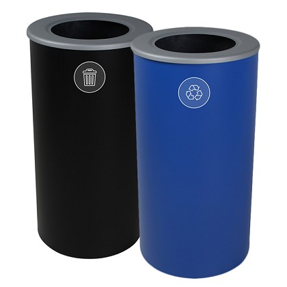 The Spectrum Round Recycling & Trash Combo - Black & Blue