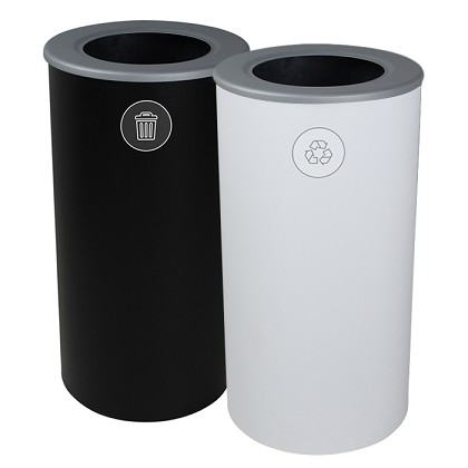 The Spectrum Round Recycling & Trash Combo - Black & White