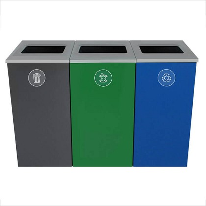 Spectrum Three-Stream Triple Cube Recycling Station - Custom