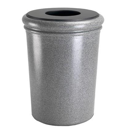 50-Gallon Round StoneTec Waste Container