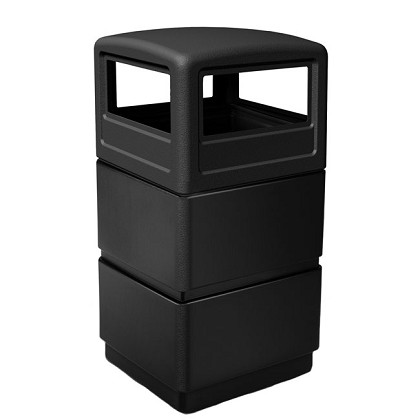 38-Gallon Three-Tier Waste Container with Dome Lid