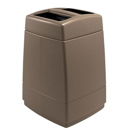 55-Gallon Two-Stream Trash Container