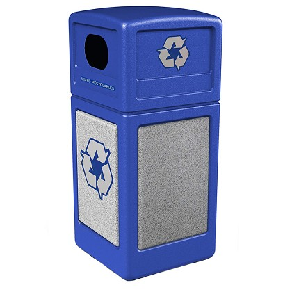 StoneTec 42 Gallon Square Recycling Container