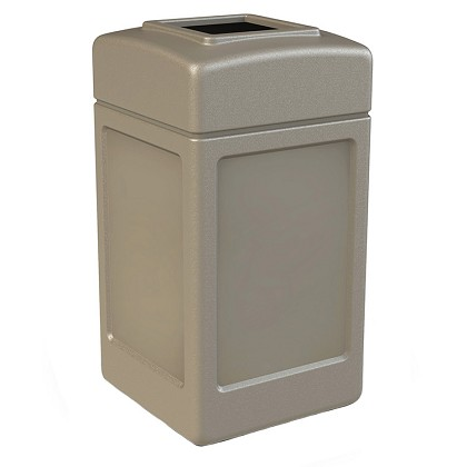 PolyTec 42 Gallon Square Waste Container
