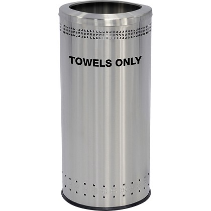 Towel Receptacle in Stainless Steel