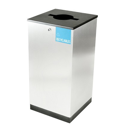 Edge Single Stream Waste & Recycling Receptacle