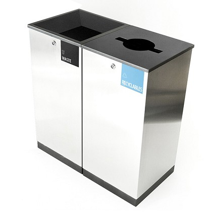 Edge Two-Stream Waste and Recycling Station