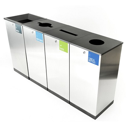 Edge Four-Stream Waste and Recycling Station