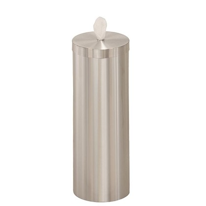 Antibacterial Wipe Dispensers w/Storage in Satin Aluminum