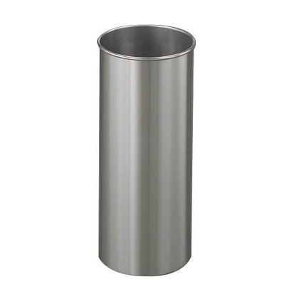 New Yorker 6 Gallon Satin Aluminum Office Wastebasket