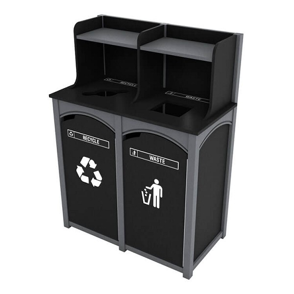 Durham 2-Stream Foodservice Recycling Station