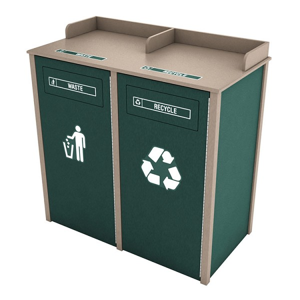 Nashville 2-Stream Foodservice Recycling Station