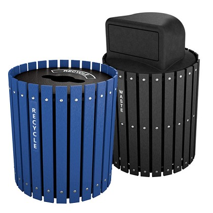 Recycling and Waste Barrel Combo