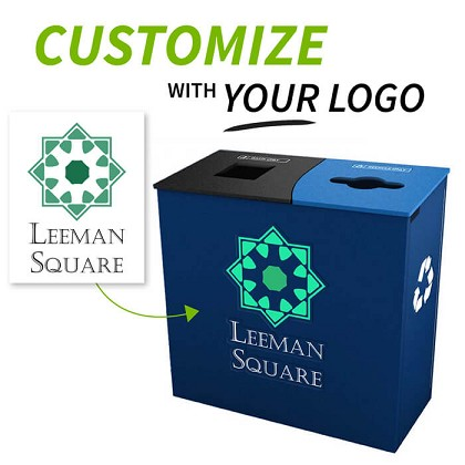 Custom Logo Claremont Double Recycling Station