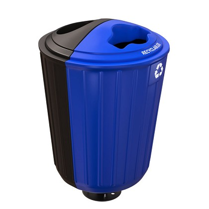 Rondelet Double-Stream Outdoor Bin - Custom