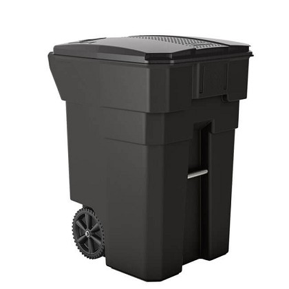 96 gallon plastic wheeled trash can recycle away. Black Bedroom Furniture Sets. Home Design Ideas