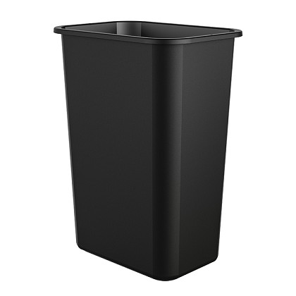 10 Gallon Desk-side Resin Trash Bin (12 Pack)
