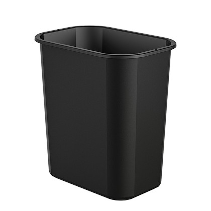 3 Gallon Desk-side Resin Trash Bin (12 Pack)