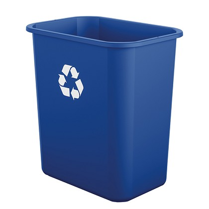 7 Gallon Desk-side Resin Recycling Bin (12 Pack)