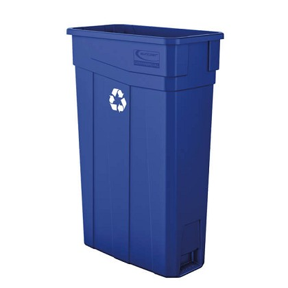 23-Gallon Resin Slim Recycling Can