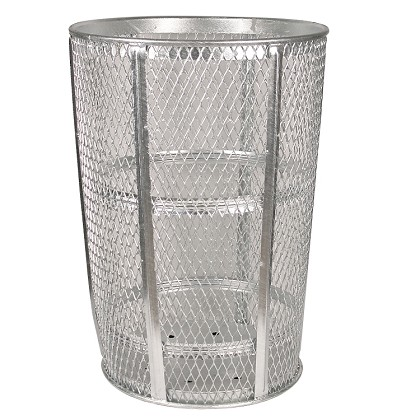 Expanded Metal Galvanized Waste Receptacle