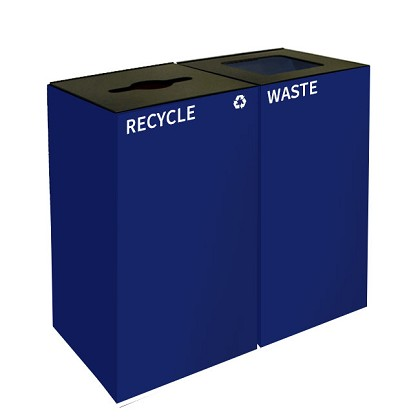GeoCube Two-Stream Recycling Station | Double Blue