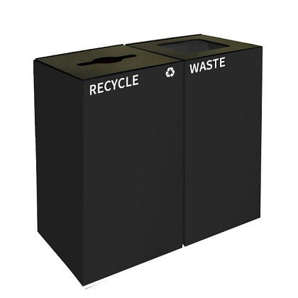 GeoCube Two-Stream Recycling Station | Double Charcoal