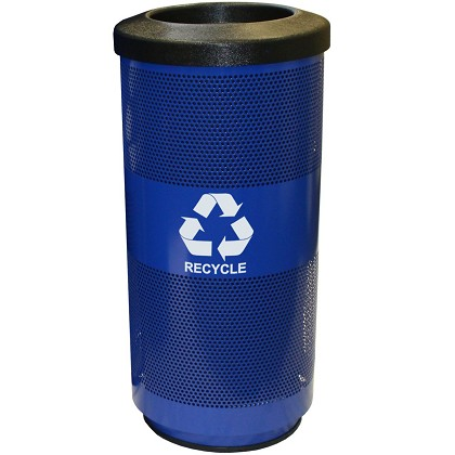 Stadium 20 Gallon Perforated Recycling Receptacle