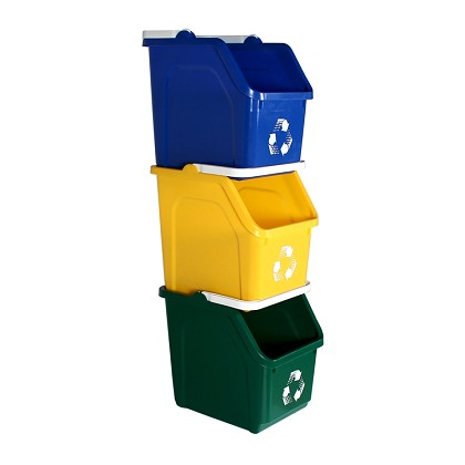 Three-Stream Stackable Recycler