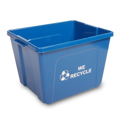 14-Gallon Curbside Recycling Bin