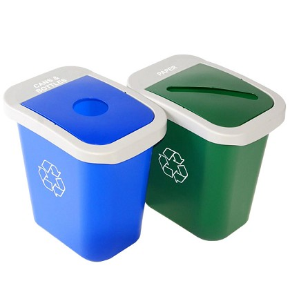7 Gallon Deskside Sorter Recycling Combo - Custom