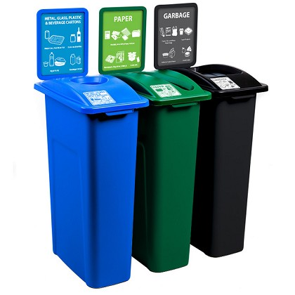 NYC Compliant Large Simple Sort Triple Recycling Station