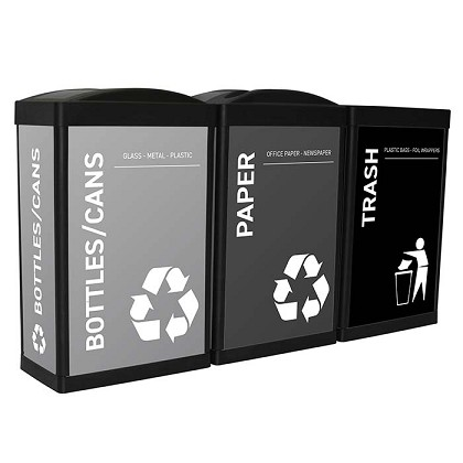 The Elite Ergocan Recycling Station - Grayscale