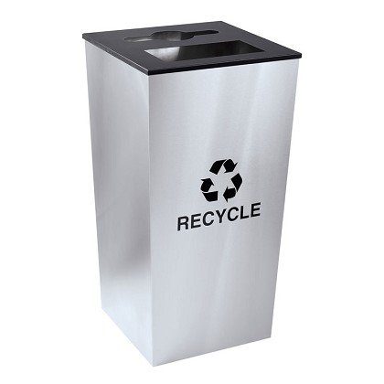 Metro XL Combo Recycling Receptacle in Stainless Steel