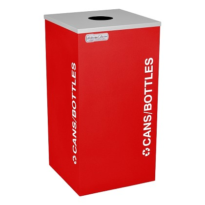 Kaleidoscope One-Stream Square Recycling Container