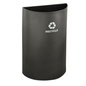 Glaro Open-Top Half-Round Recycling Container
