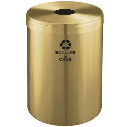 Glaro 41-Gallon VALUE SERIES Single-Purpose Recycling Container in Satin Brass