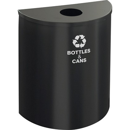 Glaro XL Single-Purpose 1/2-Round Recycling Container in Designer Color