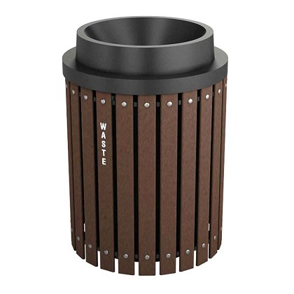 Recycling and Waste Barrel with Funnel Lid