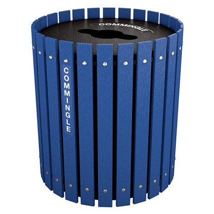 Recycling and Waste Barrel with Lift Off Lid