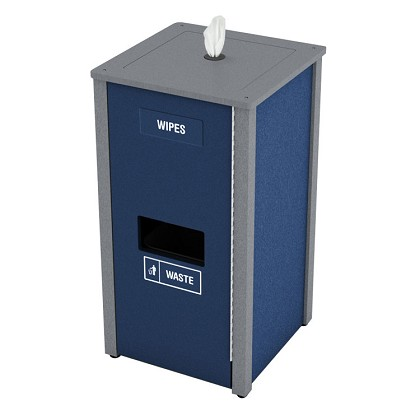 Sanitizing Wipe & Waste Station | 4 Gal | Custom