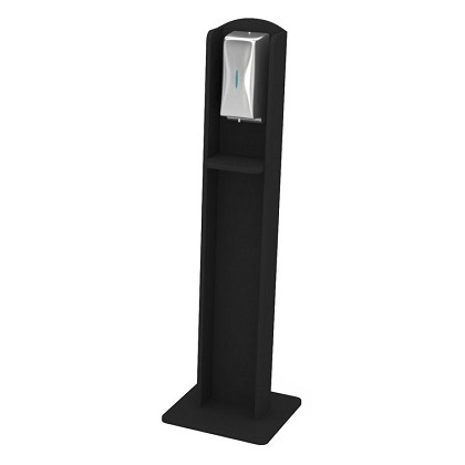 Nash Laminate Sanitizing Stand | Automatic Dispenser | Black