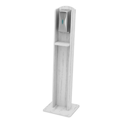 Nash Hardwood Sanitizing Stand | Automatic Dispenser | Aged White