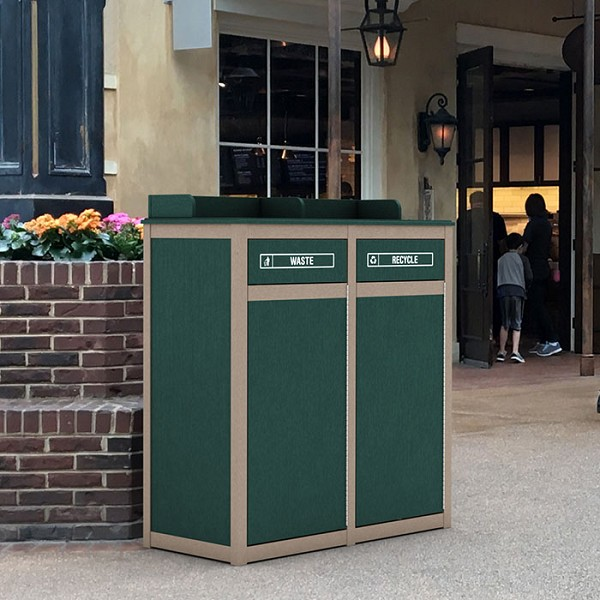 The Stratton 2-Stream Foodservice Recycling Station