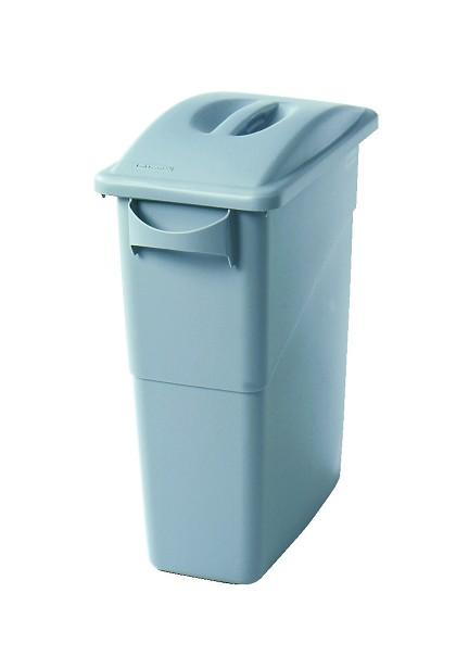 Rubbermaid 16 gallon slim jim trash can with lid handles recycle away - Slimline waste bin ...